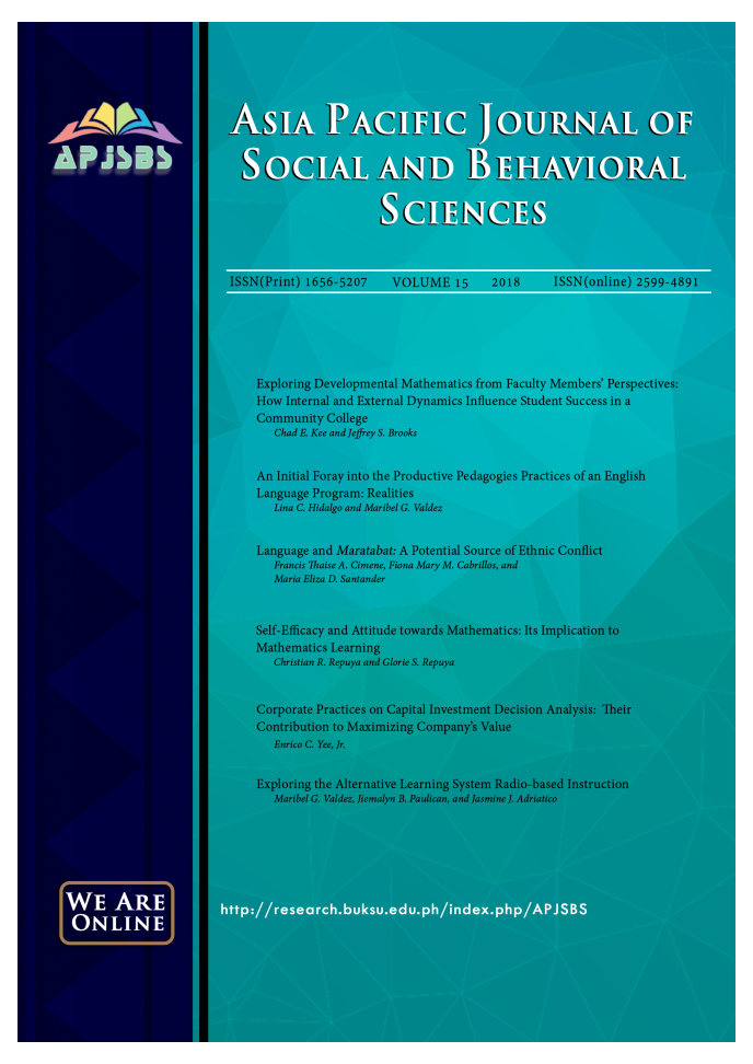 Archives | Asia Pacific Journal of Social and Behavioral